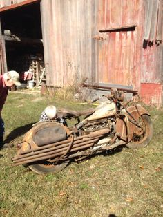 1940 Indian 4. Special 4 pipes. Very rare. My Dad's.