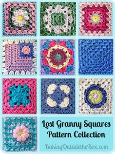 #BakingOutsidetheBox | A round-up of the Lost Granny Squares and two ways to get the patterns.