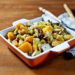 zucca patate e funghi Un #contorno #autunnale al forno  #zucca #funghi