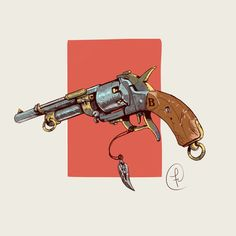 ArtStation - Old Hunter revolver, Fernando Correa Fallout Weapons, Fallout Art, Weapons Guns, Design Reference, Drawing Reference, Desenho Scooby Doo, Gun Art, Steampunk Design, Guns And Ammo