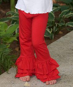 http://www.zulily.com/invite/vhanson979 Look at this #zulilyfind! Red Ruffle Pants - Infant, Toddler & Girls #zulilyfinds