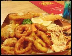 Seafood platter at the manhattan fish market jakarta..