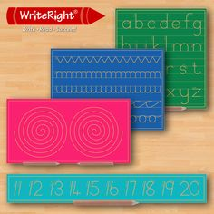 Write Right (WR) has perfected the science behind teaching your child how to write correctly through the exciting use of the innovative WR Boards.   WR offers an extensive range of products suitable for children aged 3+. Each board offers a unique skill development to assist your child in writing correctly.  How can the WR products assist your child?  •Learning the sequence of letters in the alphabet  •Improving pencil grip & pencil control •Correct letter and number formation