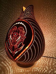 Lámpara de calabaza gemini Twinflame lámpara por AtelierPumpkinArt Más