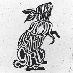 "Twitter / flooncanvas: ""Rabbit Heart"" typography ..."