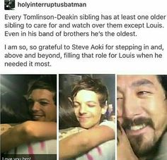 Thank you so much Steve for being there for our Louis. We're so grateful.