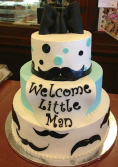Welcome Little Man. Baby Shower Cakes by Conti's Bronx NY