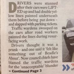 Funny story in the Manchester Evening News last week.