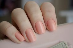 I am obsessed with this lovely peach color.