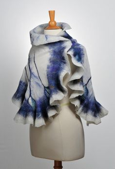 Nuno felted scarf wrap / handfelted / merino wool / от ArtInTouch