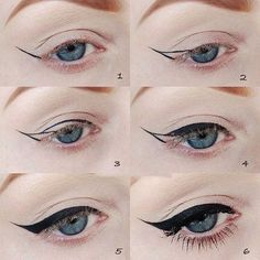 The most important part of the eye makeup is Eyeliner. It would not be wrong to say that eyeliner in fact complete the overall makeup looks. Diy Beauty Hacks, Beauty Hacks For Teens, Beauty Tips, Beauty Products, Beauty Tutorials, Scene Makeup Tutorials, Beauty Ideas, Avon Products, Face Products