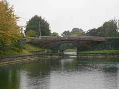 Bridge in Mullingar, Ireland. Want to stand and look over at the beautiful scenery