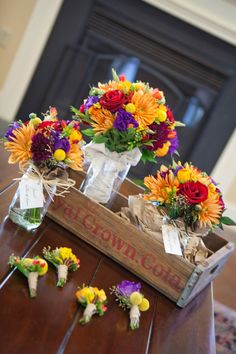 Colorful Wedding Bouquets - PHOTO SOURCE • PSALM 27 CREATIVE