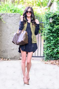 Book of Leisure - maybe pair my utility vest with my new TH shirt dress. Oh, and pair with peep toe booties for fall :)