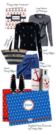 Preppy Style Marine Look albeit the website is in another language...love the outfit!!