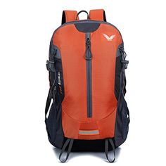 Sfeibo Travel Bag Outdoor Sport Hiking Rucksack 35L Nylon Waterproof Trekking Backpack Orange ** Click on the image for additional details. (This is an affiliate link) #CampingBackpacksandBags