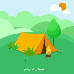 Get free Camping tent vector illustration. Fully Text Editable vector with Adobe Illustrator .Ai