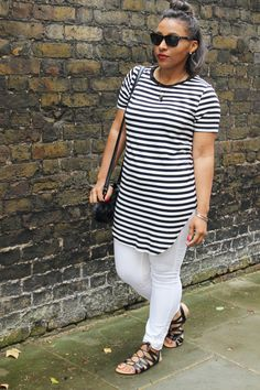 Black & White Stripes #fashion #blogger #ootd #summer