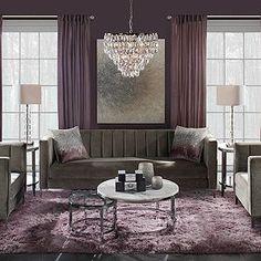 zgallerie living room grey home decor Mauve Living Room, Glam Living Room, Purple Living Room Furniture, Sofa Furniture, Living Spaces, Dining Room Inspiration, Apartment Living, Penthouse Apartment, Living Room Designs
