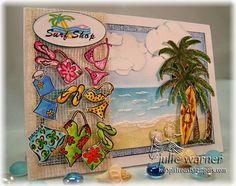Surf Shop beach card