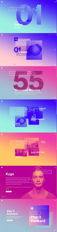 DIY your photo charms, compatible with Pandora bracelets. Make your gifts special. Make your life special! Spotify Year in Music 2015 Mobile Design, App Design, Layout Design, Logo Design, Branding, Spotify Year, Massimo Vignelli, Design Graphique, Identity