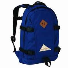 """Kelty Captain Backpack (Navy) by Kelty. $59.62. Torso Fit Range:  One Size. Body Fabric:  1000d Cordura® Fabric. Size:  18"""" x 13"""" x 6"""". Volume:  1400 cubic Inches / 23 Liters. Weight:  1lb 13oz / .8kg. With traditional styling, leather accents, authentic buckles and compression straps, the Captain is perfect for a day out on the trails or running around town.  With updated organization and the burley fabric from decades past, you'll be stylin' wherever you go. *Easy acces..."""