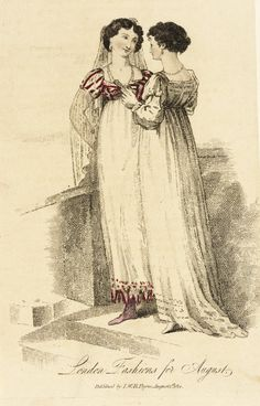 Fashion Plate (London Fashions for August), I. W. H. Payne (England, London, active early 19th century): 1 August 1814, English, hand-colored engraving on paper.