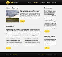 Bio Fuels Website Templates by Elza