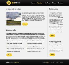 Bio Fuels Website Templates by Elza