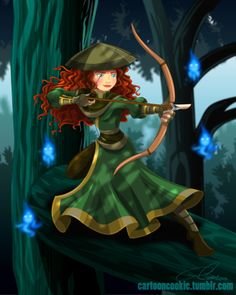 Merida as a Freedom Fighter - Disney x Avatar series by Robby Cook
