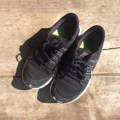 Nike free 5.0 shoes Black Nike Free 5.0 shoes. In good condition. Some scuff marks on the toes. No flaws otherwise. Will be washed and cleaned prior to shopping. Make an offer and I'll try my best to work with you  no trades please Nike Shoes Athletic Shoes