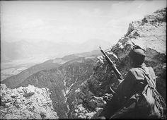 Austro-Hungarian solder overlooking Italian positions in WWI