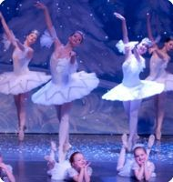 Snow Maidens and children, Moscow Ballet's Great Russian Nutcracker