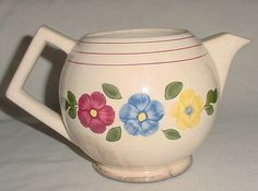 Vintage Pottery Tea Pot Rio Rose Pansy Design with by DarsBazaar