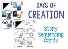 Creation Story Cards: Bible Activities