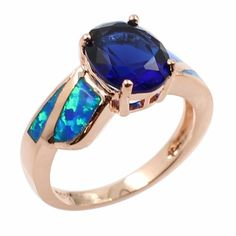 (11.55$)  Buy here  - Fashion CZ Diamond Simulated Opal 925 Sterling Silver Ring Women Girl Wedding Engagement Jewelry Accessory