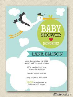 stork+baby+shower+invite+PRINTABLE+5x7+digital+by+ellieohdesigns,+$15.00