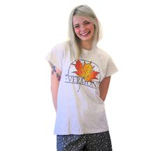 90s Vermont T-shirt Vermont Foliage Tee Maple by MorningGlorious