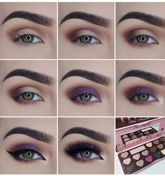 Beautiful Eye Makeup Pictorial By Using Two Faced Palate. #Beauty #Trusper #Tip