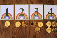 Montessori-Inspired St. Patrick's Day Math Activities at PreK + K Sharing
