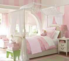 I wish my little girl liked this girlie room.