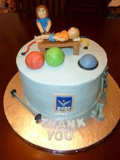 Physical Therapy graduation cake. Minus the thank you!  Ha