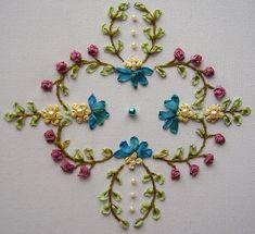 Herrschner pattern in silk ribbon