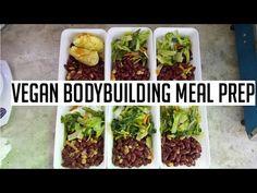 Vegan bodybuilding meal prep on a budget (video) # vegetarian Vegan Recipes Videos, Delicious Vegan Recipes, Whole Food Recipes, Vegetarian Recipes, Dinner Recipes, Healthy Recipes, Vegan Vegetarian, Paleo Meals, Protein Recipes