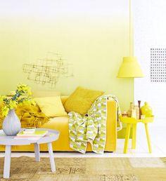 Wandfarbe, Möbel Und Wohnaccessoires In Gelb