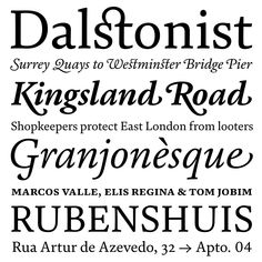 FS Brabo font, by Fernando Mello, Fontsmith Foundry. Clear and well-designed serif font, I love the ligatures! #font #typography #serif