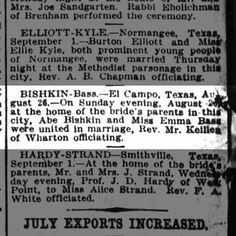 Bishkin-Bass  Houston Post 3 Sept 1916 pg 50