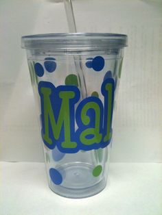 $10!   16 oz personalized tumbler cup!