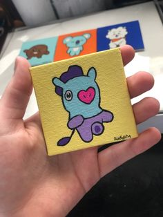 Audipity by Audipity Mini Canvas Art, Diy Canvas, Pikachu Coloring Page, Cute Monsters Drawings, Spongebob Painting, Army Crafts, Art Studio Room, Anime Butterfly, Diary Decoration