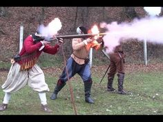 Matchlock and wheellock firing according to authentic French 17th centur...